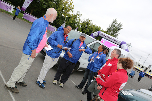Event Volunteers in action at Fingal Festival of Football